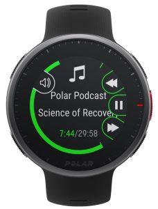 music controls from wrist 750 e1608764384604 Reloj GPS Polar Vantage V2 Multisport