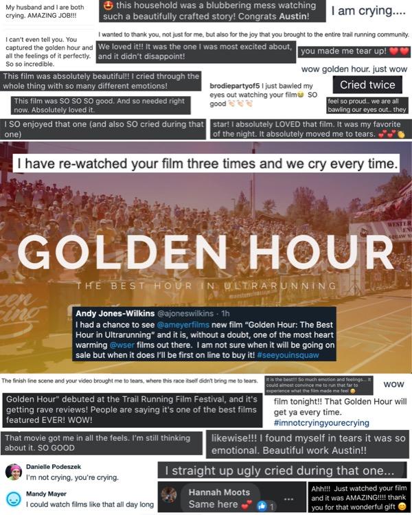 Golden Hour Trail Running Film Festival Premiere Feedback 750 Detrás de la lente: Austin Meyer