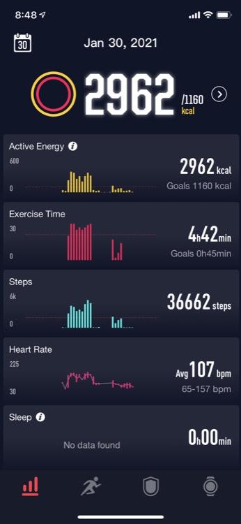 daily activity summary 750 Revisión del reloj GPS COROS VERTIX