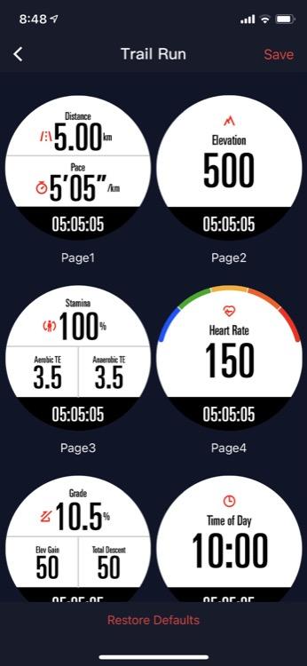 watch activity settings on app 750 Revisión del reloj GPS COROS VERTIX