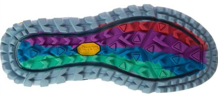 Antora 2 rainbow outsole lugs with different shapes and orientations 750 rotated e1621972280455 Primer vistazo: Merrell Antora 2 y Nova 2